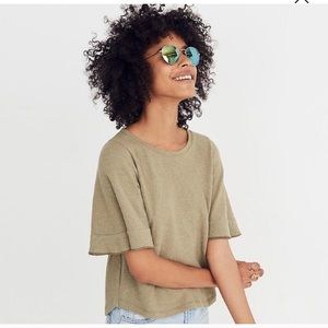 Madewell Texture & Thread Flutter sleeve top XS